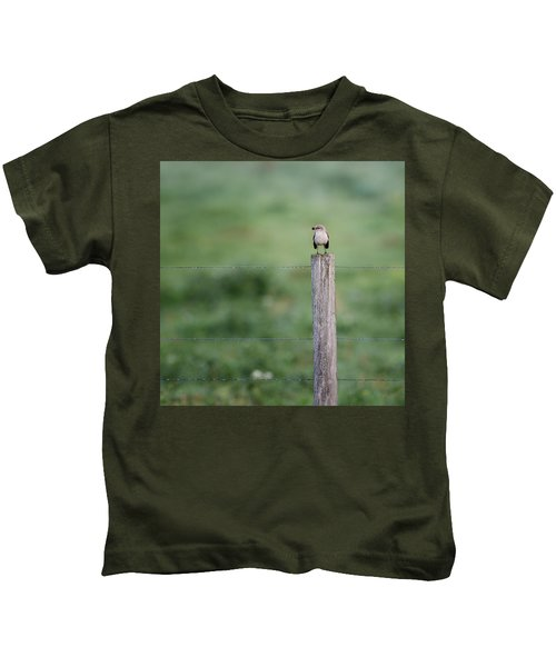 Minimalism Mockingbird Kids T-Shirt by Bill Wakeley