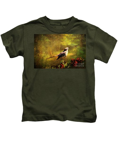 Mockingbird Have You Heard... Kids T-Shirt by Lianne Schneider