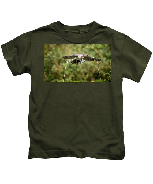 Mockingbird In Flight Kids T-Shirt by Bill Wakeley
