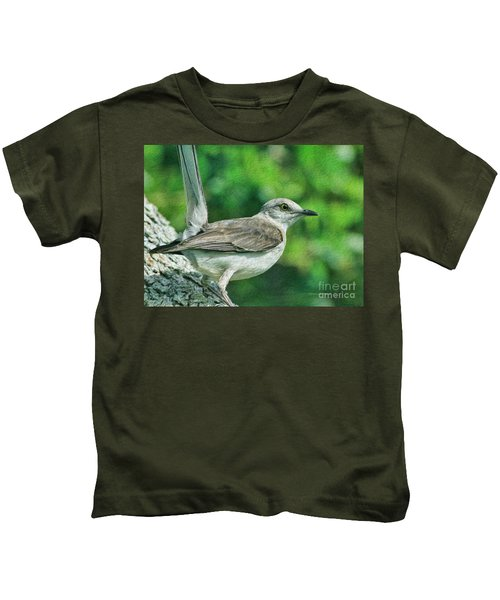 Mockingbird Pose Kids T-Shirt by Deborah Benoit