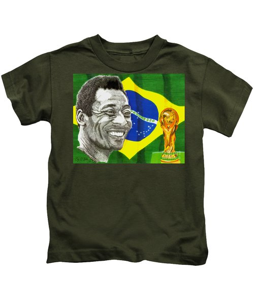 Pele Kids T-Shirt by Cory Still