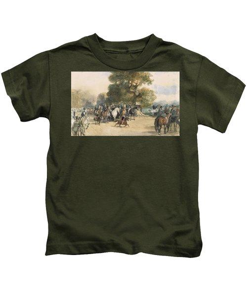 Scene In Hyde Park Kids T-Shirt by Eugene-Louis Lami