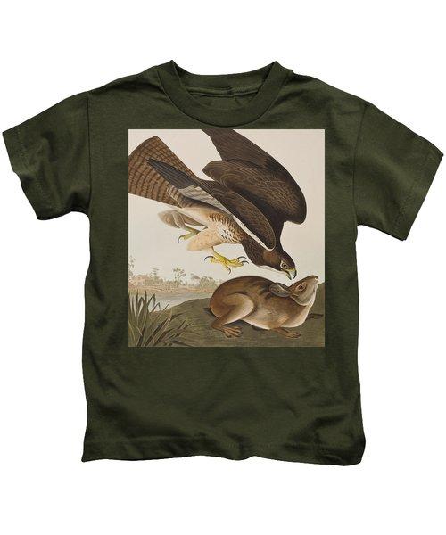 The Common Buzzard Kids T-Shirt by John James Audubon
