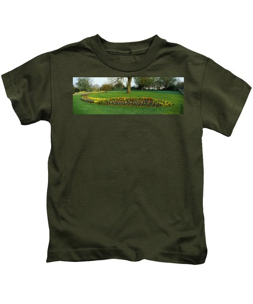 Tulips In Hyde Park, City Kids T-Shirt by Panoramic Images