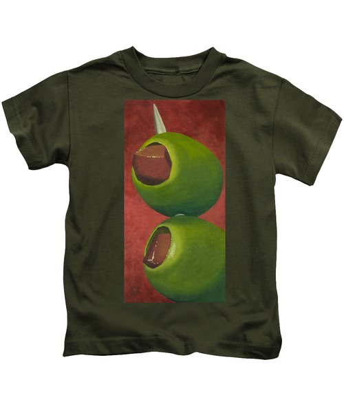 Two Olives In Search Of A Bloody Mary Kids T-Shirt by Garry McMichael