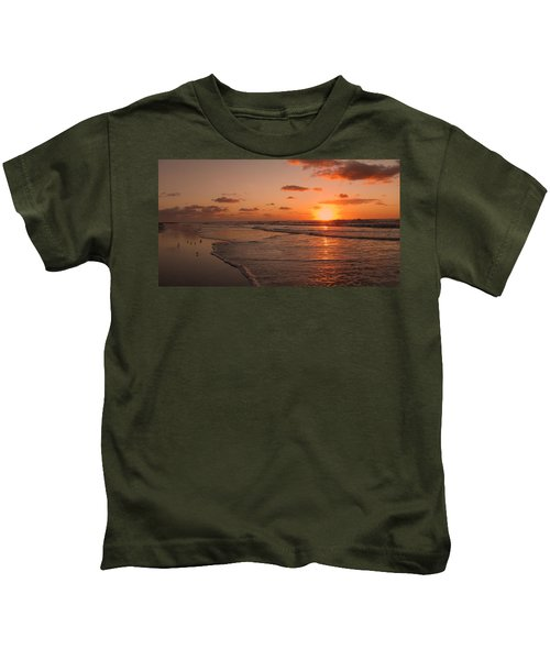 Wildwood Beach Sunrise II Kids T-Shirt by David Dehner