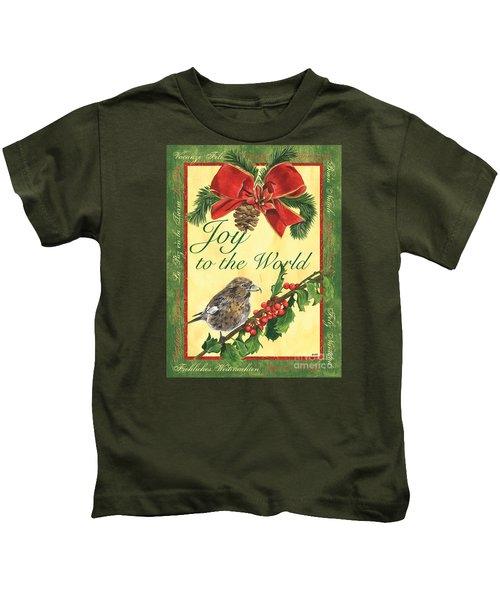 Xmas Around The World 2 Kids T-Shirt by Debbie DeWitt
