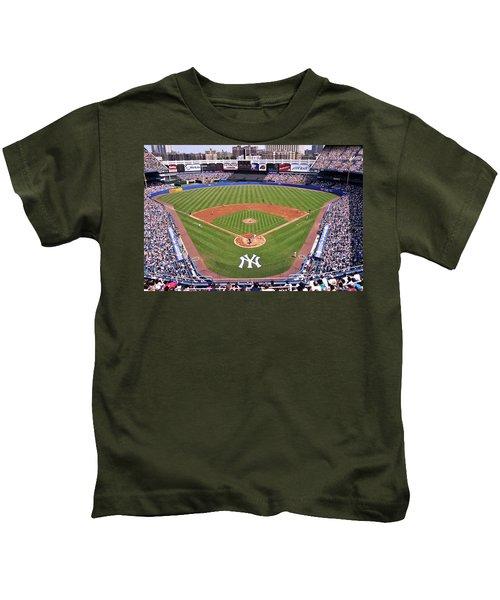 Yankee Stadium Kids T-Shirt by Allen Beatty