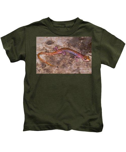 Cave Salamander Kids T-Shirt by Dante Fenolio