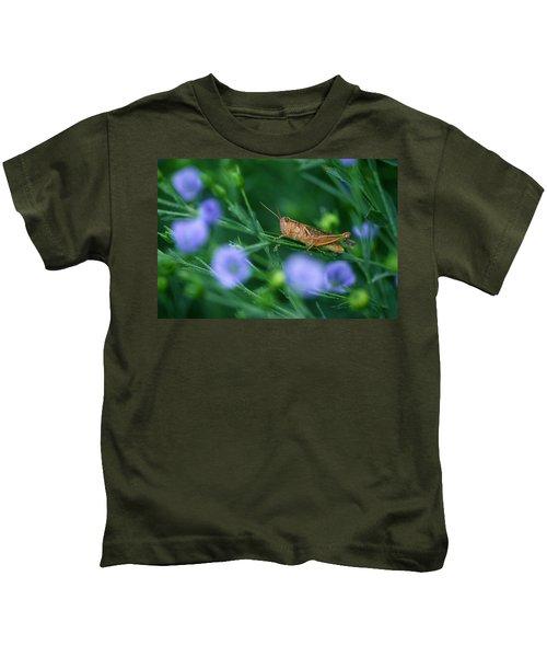 Grasshopper Kids T-Shirt by Mike Grandmailson
