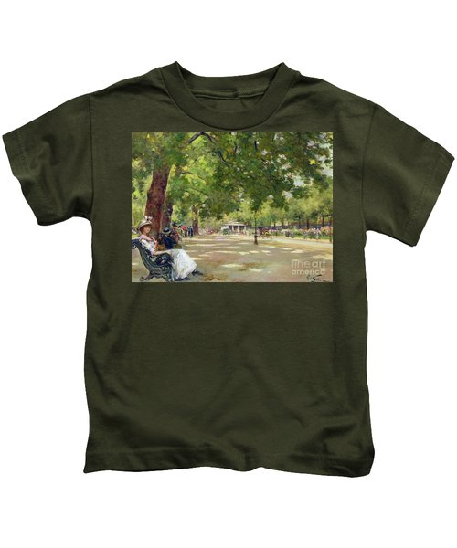 Hyde Park - London Kids T-Shirt by Count Girolamo Pieri Nerli