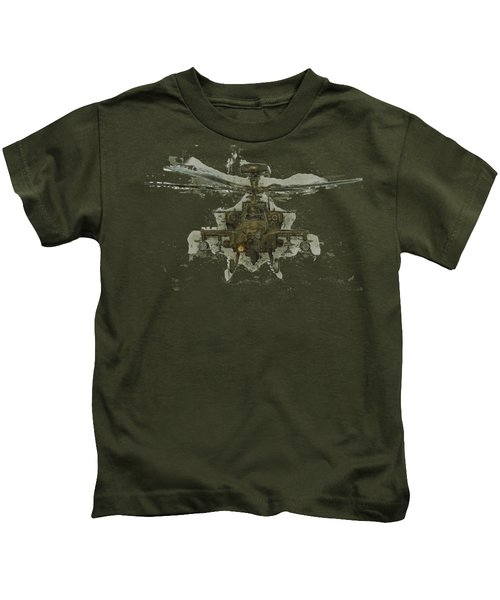 Apache Helicopter Kids T-Shirt by Roy Pedersen
