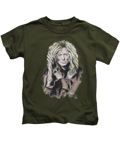 David Coverdale Kids T-Shirt by Melanie D