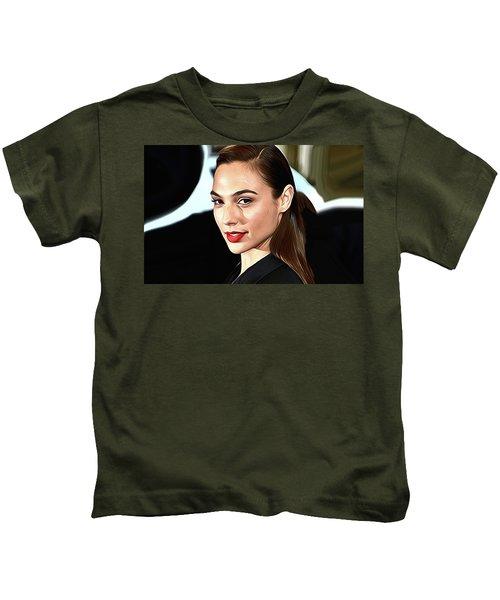 Gal Gadot Print Kids T-Shirt by Best Actors