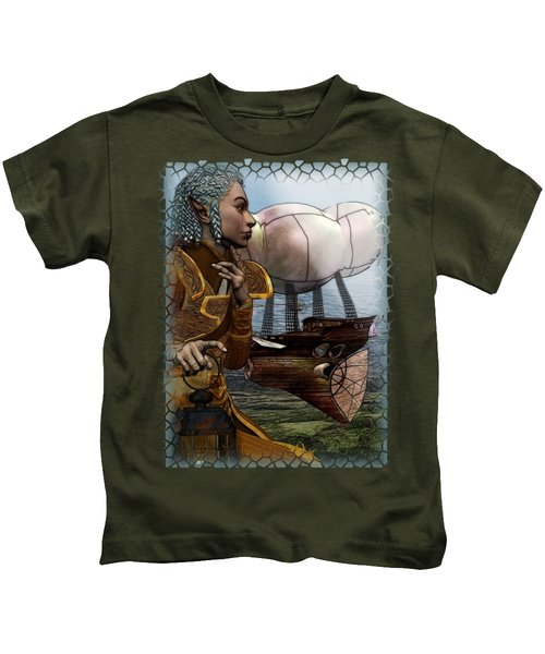 Airship Kids T-Shirt by Sharon and Renee Lozen