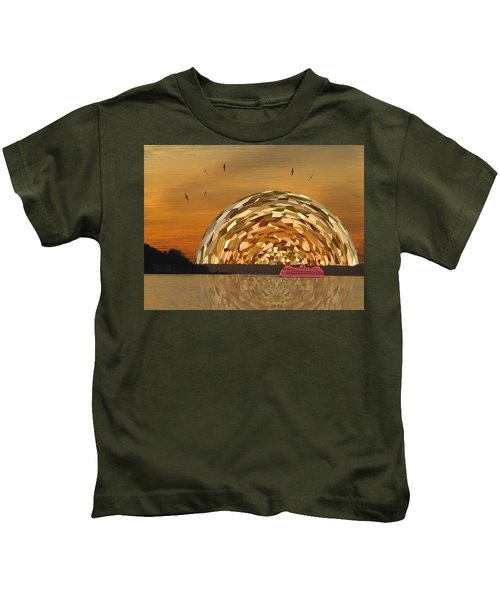 Albatross Setting Kids T-Shirt by Tim Allen