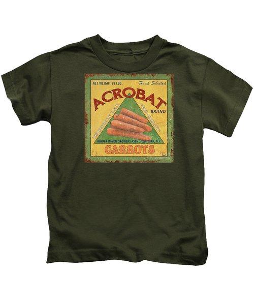 Americana Vegetables 2 Kids T-Shirt by Debbie DeWitt