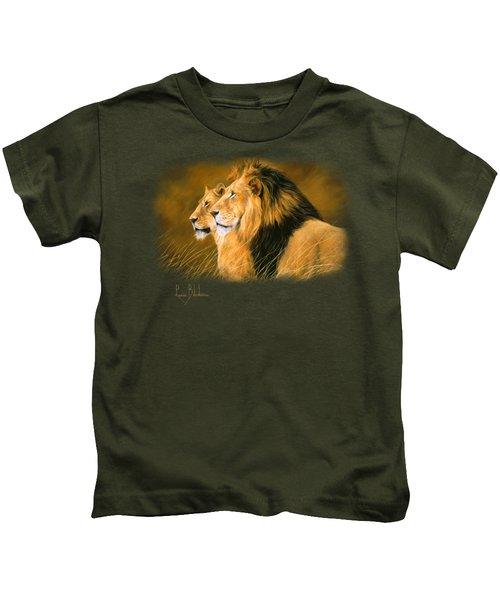 Side By Side Kids T-Shirt by Lucie Bilodeau