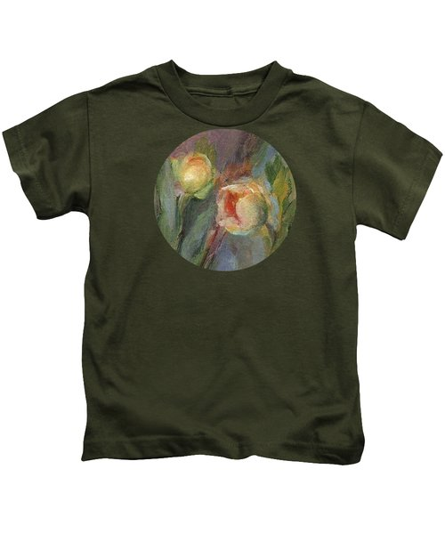Evening Bloom Kids T-Shirt by Mary Wolf
