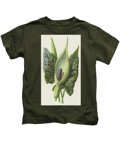Arum, Cuckoo Pint Kids T-Shirt by Frederick Edward Hulme