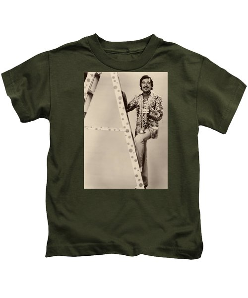 Band Leader Doc Serverinsen 1974 Kids T-Shirt by Mountain Dreams