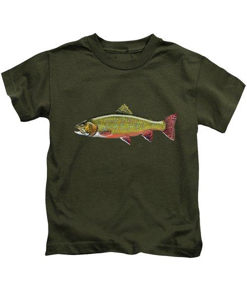 Brook Trout Kids T-Shirt by Serge Averbukh