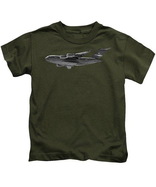 C-17 Globemaster IIi Bws Kids T-Shirt by Mark Myhaver