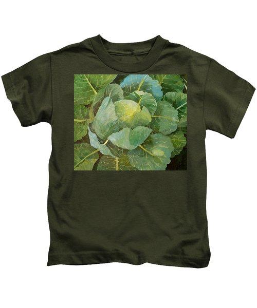 Cabbage Kids T-Shirt by Jennifer Abbot