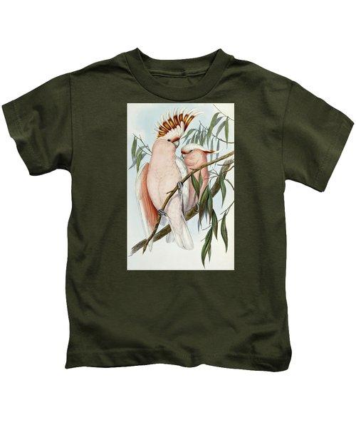 Cacatua Leadbeateri Kids T-Shirt by John Gould