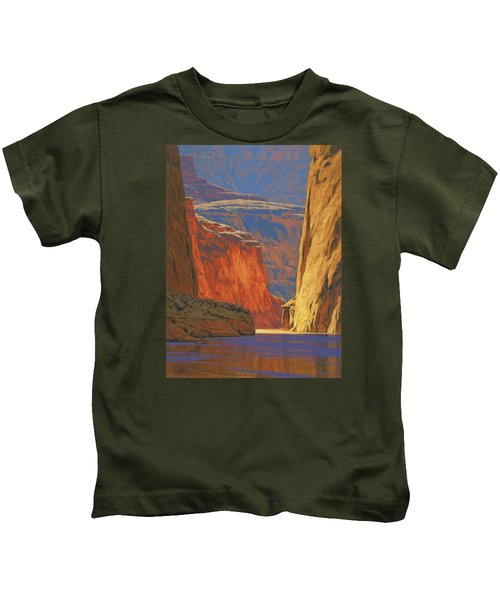 Deep In The Canyon Kids T-Shirt by Cody DeLong