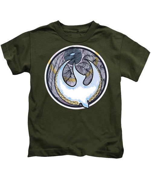 Descending Dove Kids T-Shirt by Daniel P Cronin