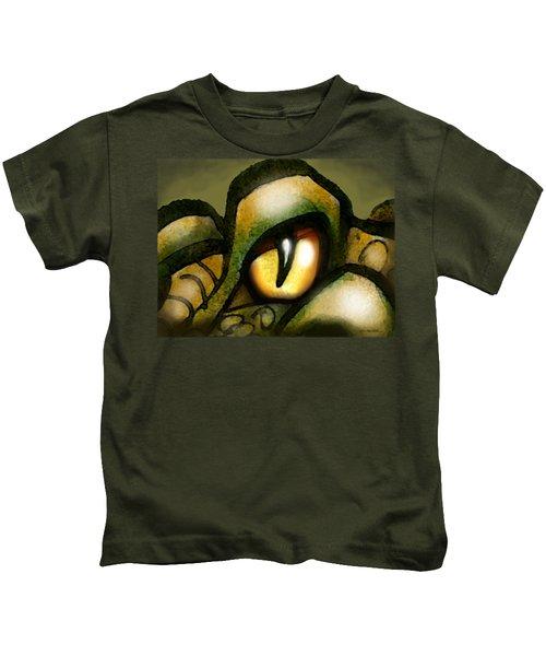 Dragon Eye Kids T-Shirt by Kevin Middleton
