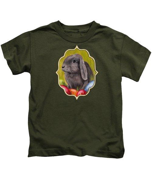 Easter Bunny Kids T-Shirt by Anastasiya Malakhova