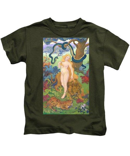 Eve Kids T-Shirt by Paul Ranson