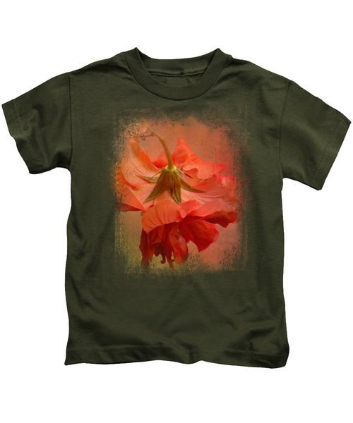Falling Blossom Kids T-Shirt by Jai Johnson