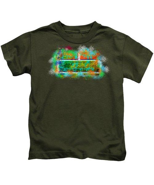 Forgive Brick Orange Tshirt Kids T-Shirt by Tamara Kulish
