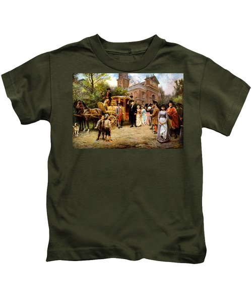 George Washington Arriving At Christ Church Kids T-Shirt by War Is Hell Store