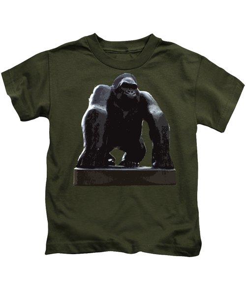 Gorilla Art Kids T-Shirt by Francesca Mackenney