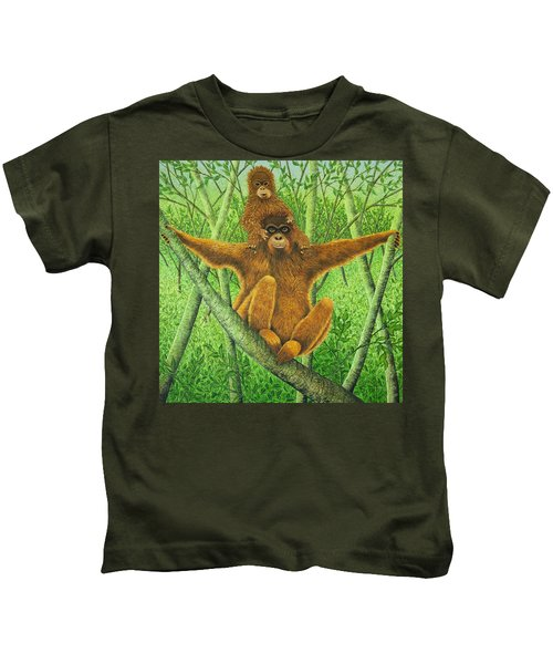 Hnag On In There Kids T-Shirt by Pat Scott