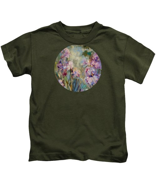 Iris Garden Kids T-Shirt by Mary Wolf