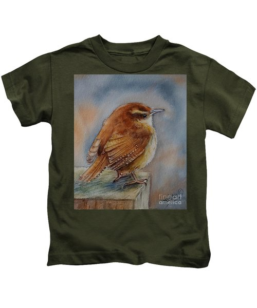 Little Friend Kids T-Shirt by Patricia Pushaw