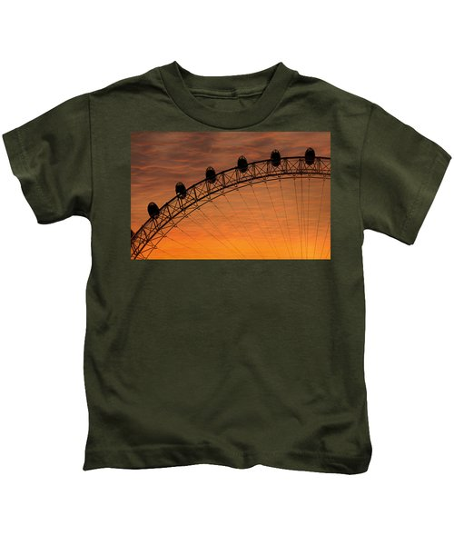 London Eye Sunset Kids T-Shirt by Martin Newman