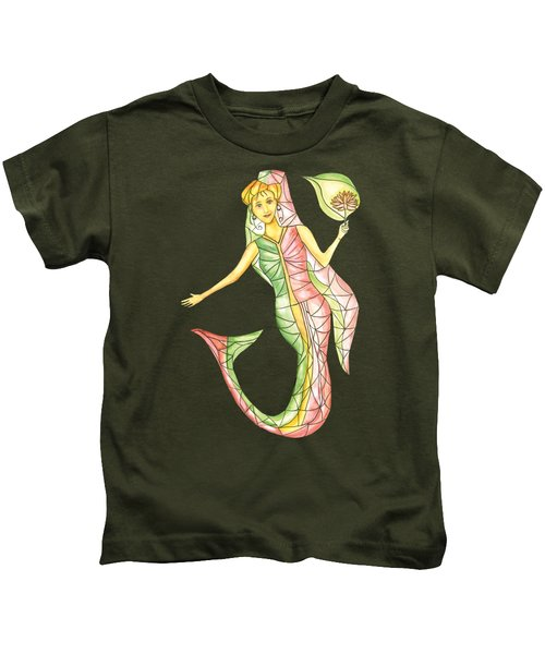 Mermaid Stories A Kids T-Shirt by Thecla Correya