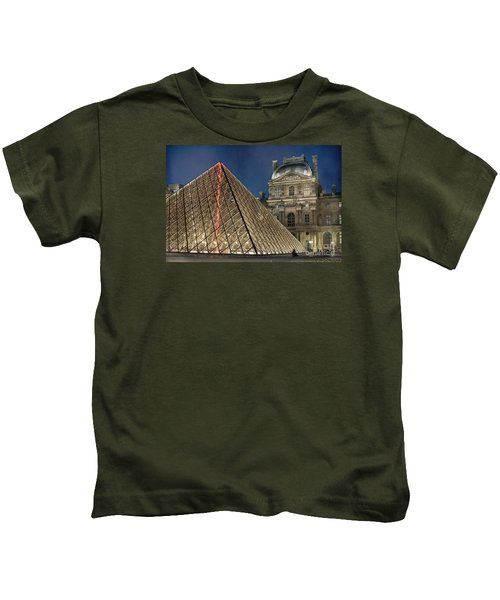 Paris Louvre Kids T-Shirt by Juli Scalzi