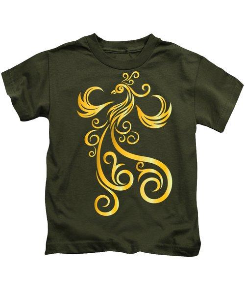 Phoenix Kids T-Shirt by Martinus Sumbaji