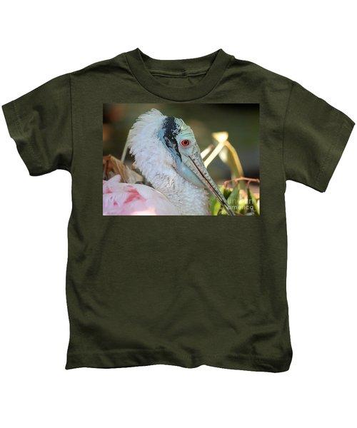 Roseate Spoonbill Profile Kids T-Shirt by Carol Groenen