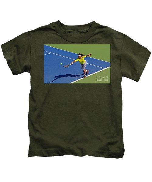 Serena Williams 1 Kids T-Shirt by Nishanth Gopinathan
