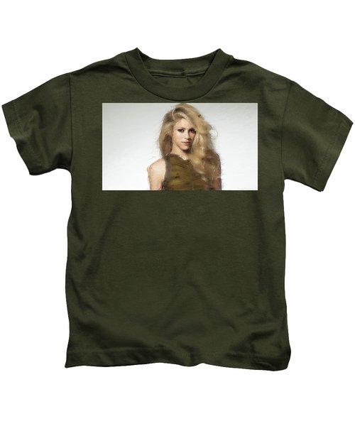 Shakira Kids T-Shirt by Iguanna Espinosa