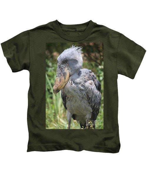 Shoebill Stork Kids T-Shirt by Carol Groenen