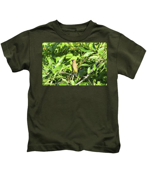 Sitting Pretty Kids T-Shirt by David Stasiak